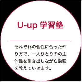 U-up塾|それぞれの個性にあったやり方で、一人ひとりの主体性を引き出しながら勉強を教えていきます。